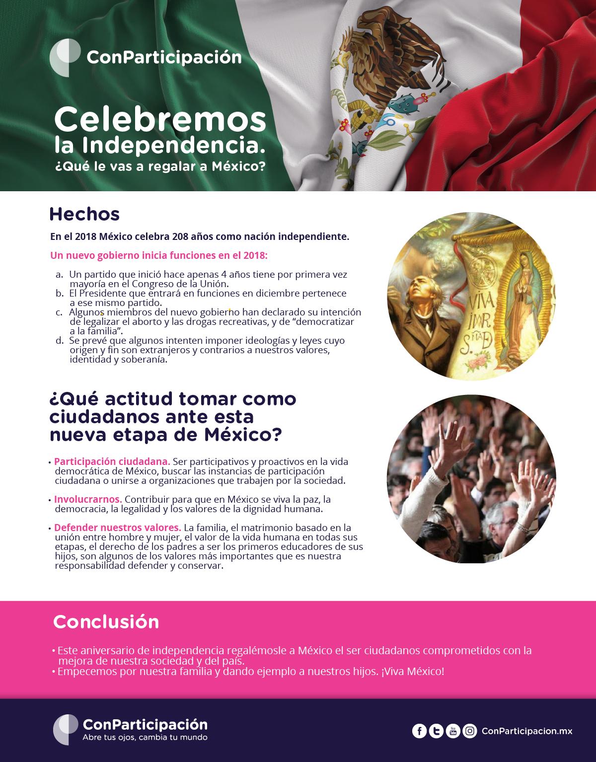 Celebremos la Independencia. ¿Qué le vas a regalar a México?