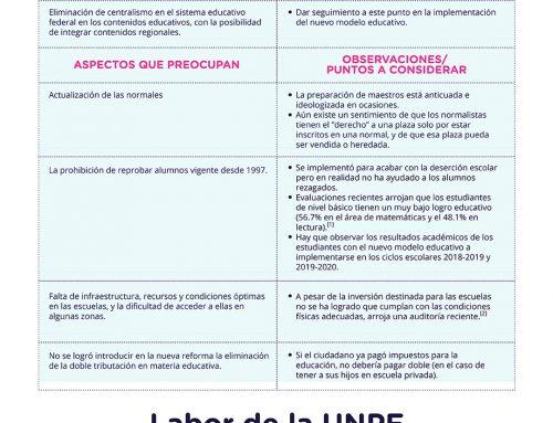 Reforma educativa y UNPF