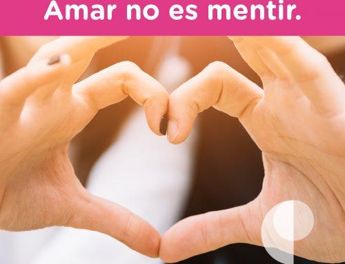 Amar no es mentir.