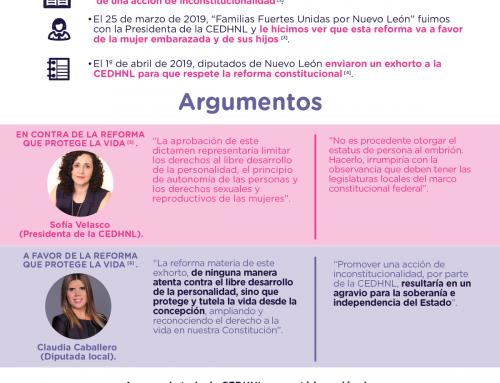 Nuevo León defiende ardientemente el derecho a la vida.