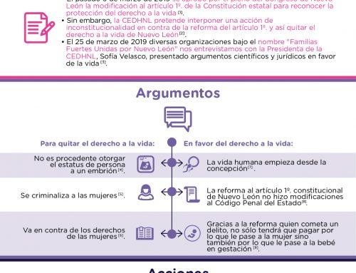 Quieren quitar el derecho a la vida en Nuevo León.