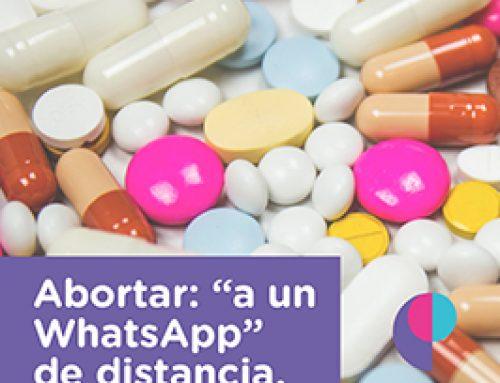 Abortar: a un mensaje de WhatsApp.