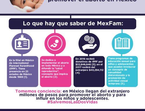 MexFam recibe millones de pesos del extranjero para promover el  aborto en México