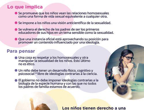 El Gobierno de México impone la ideología de género.