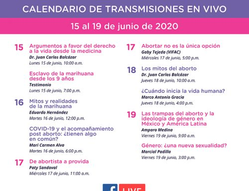Transmisiones en vivo del 15 al 19 de junio de 2020.