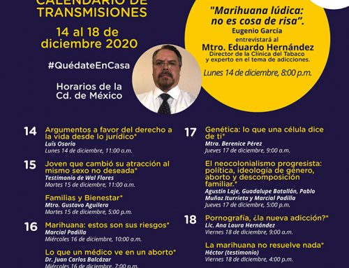 Transmisiones del 14 al 18 de diciembre de 2020.