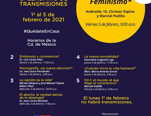 Transmisiones del 1° al 5 de febrero de 2021.