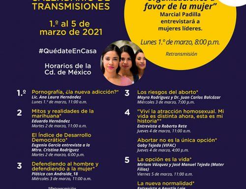 Transmisiones del 1.o al 5 de marzo de 2021.