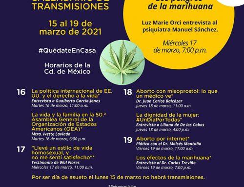 Transmisiones del 15 al 19 de marzo de 2021.