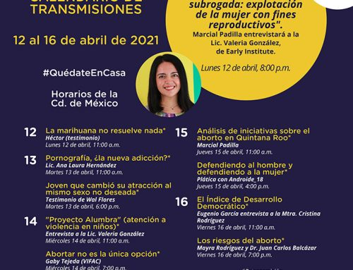 Transmisiones del 12 al 16 de abril de 2021.