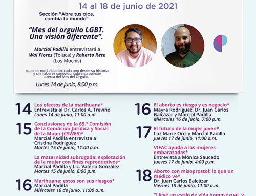 Transmisiones del 14 al 18 de junio de 2021.