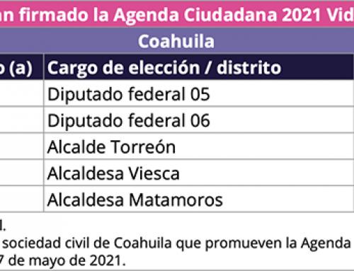 Coahuila firma agenda ciudadana 2021